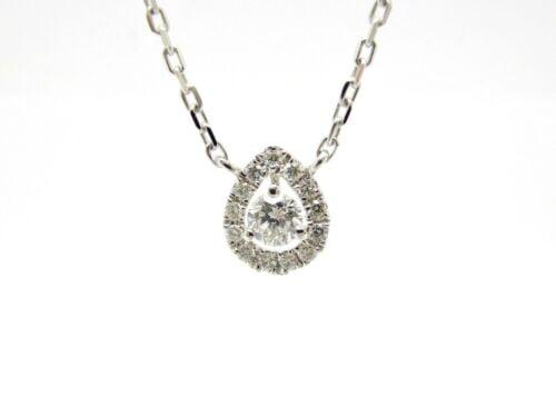 Buy Collar Gold White 18 Carat 750/000 Diamonds 0.30 CT 17 11/16in 2.57 Grs R35774