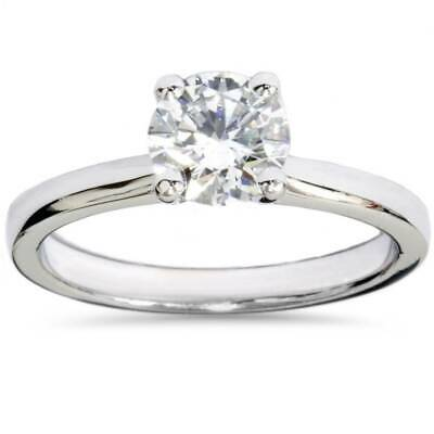 Buy G/SI 1ct Lab Created Diamond Solitaire Engagement Ring 14K White Gold