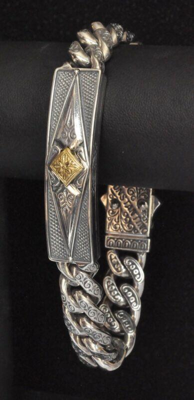Buy Konstantino Men's Chain Link Bracelet Sterling Silver 18K Hephaestus New