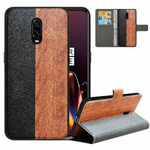 Buy LFDZ Compatible with OnePlus 6T Case/OnePlus 7 Case,PU Leather Black/Brown