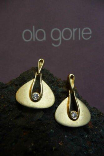 Buy Ola Gorie 9ct Gold Diamond Earrings Boxed Scottish