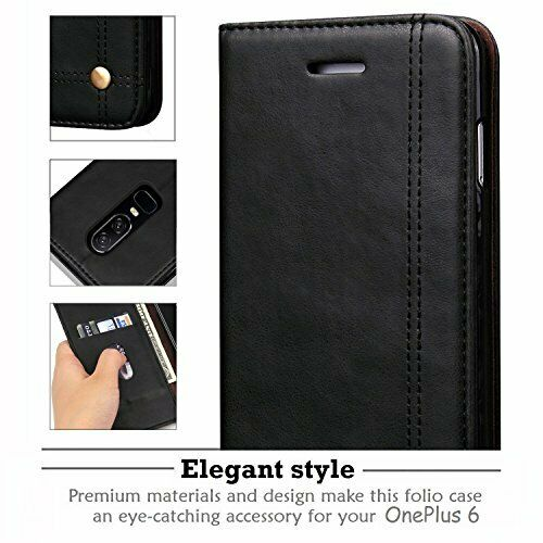 Buy OnePlus 6 Case, REAL-EAGLE Oneplus 6 Wallet Case,OnePlus 6 Premium PU Black