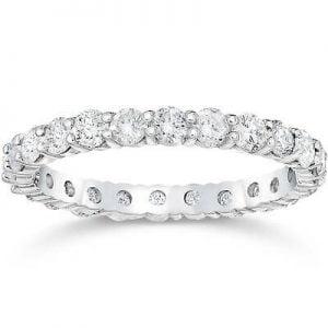 Buy Platinum I/VS 1 3/4ct Prong Diamond Eternity Ring Womens Wedding Band