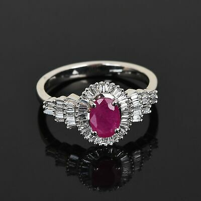 Buy RHAPSODY 950 Platinum AAAA Ruby Diamond Ring Size 7 Ct 1 F Color Vs1 Clarity