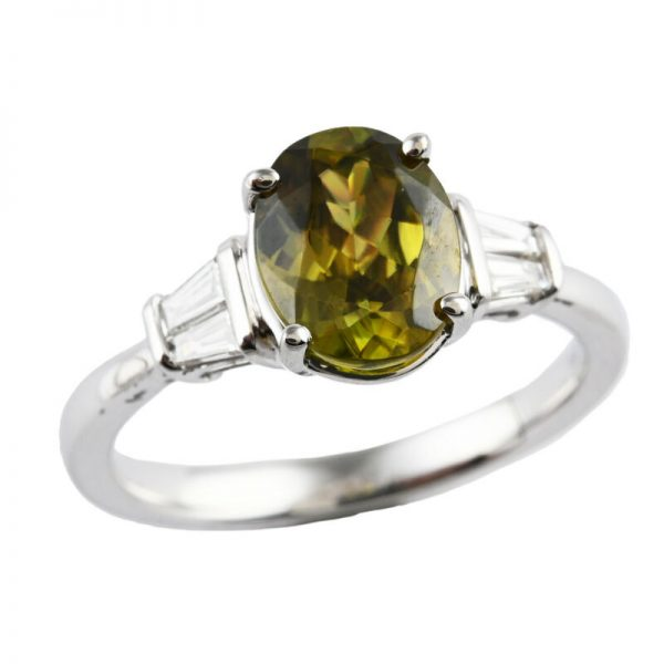 Buy RHAPSODY 950 Platinum AAAA Sphene Diamond Ring Size 7 Ct 2.3 F Color Vs1 Clarity