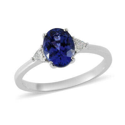 Buy RHAPSODY 950 Platinum AAAA Tanzanite Diamond Ring Size 10.5 Ct 2.1 F Color Vs1