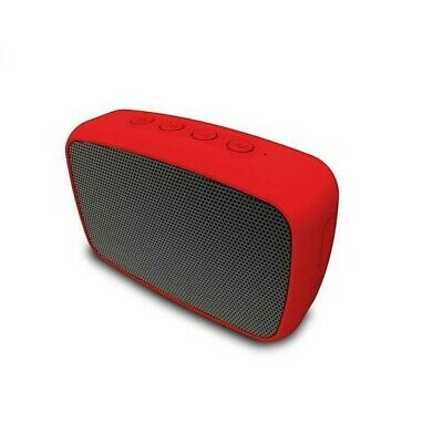 Buy Red Rechargeable Portable Wireless Bluetooth Speaker with 3.5mm Aux Cable