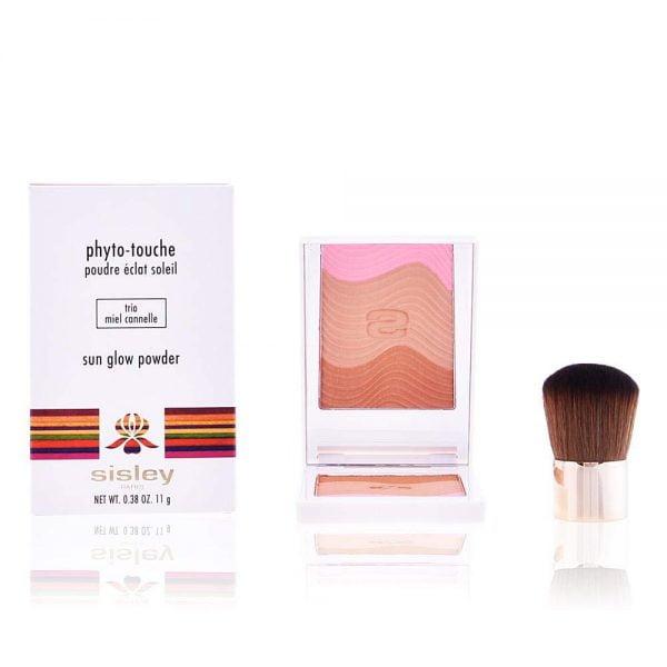 Buy Sisley Phyto Touche Sun Glow Powder With Brush - # Trio Peche Doree 11g/0.38oz