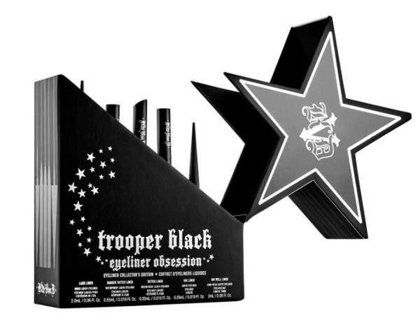 Buy Kat Von D Trooper Black Eyeliner Set! 5 Piece Black Trooper Eye Liner! Long-Wear And High-Pigment Liquid Eyeliners! Vegan And Cruelty-Free Eyeliner!