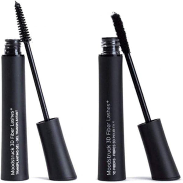 Buy NERB 2pcs 3D Natural Waterproof Mascara with Fiber Brush Build Rich Thick Eyelash Makeup Tools (Color : Black)