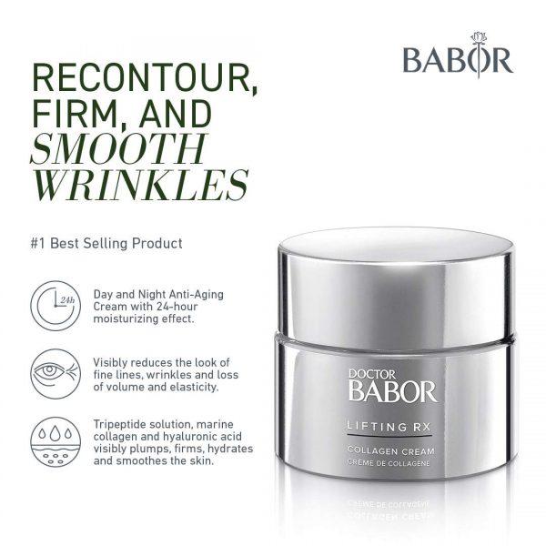 Buy Babor DOCTOR LIFTING RX Collagen Cream, Hyaluronic Acid Moisturizer and Anti-Wrinkle Skin Firming Cream, Reduces Appearance of Fine Lines and Wrinkles, Day or Night Face Cream, Vegan, 1.69 Fl Oz