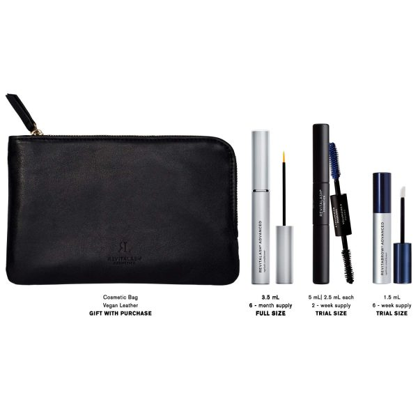 Buy RevitaLash Cosmetics, RevitaLash Favorites - RevitaLash Advanced 3.5ml, RevitaBrow Advanced 1.5ml, Mini Double-Ended Volume Set & Signature Cosmetic Bag