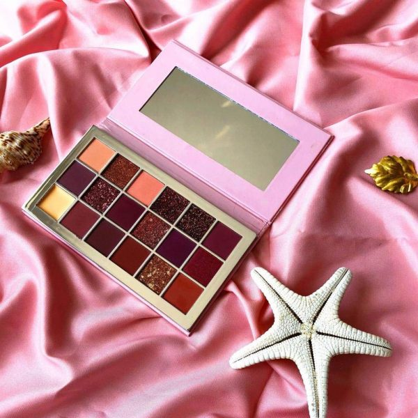Buy 18 Colors Long Lasting Pink Gold Eyeshadow Palette,10 pcs Private Label